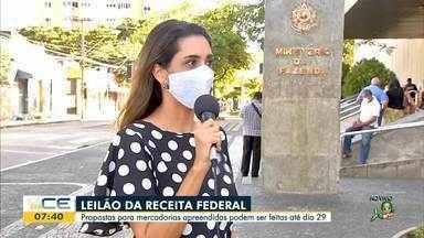 Receita Federal faz leilão de material apreendido - Saiba mais em g1.com.br/ce