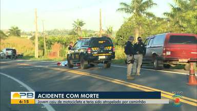 Jovem cai de moto e morre atropelado, em Lagoa Seca - Acidente aconteceu na madrugada de hoje