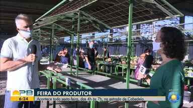 Feira do produtor acontece nessa sexta-feira na estrada de Cabedelo - A feira acontece toda sexta-feira, das 4h às 7h da manhã
