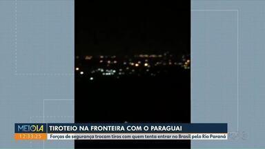 Tiroteio na fronteira com o Paraguai - Mais uma troca de tiros aconteceu nessa madrugada no Rio Paraná