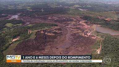 Família de trabalhador morto em Brumadinho vai receber indenização de R$3,5 milhões - Rompimento da barragem da Vale completa um ano e seis meses neste sábado (25). Onze pessoas continuam desaparecidas.