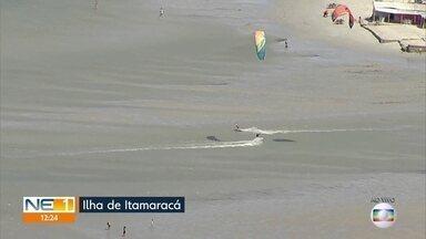 Itamaracá tem medidas para evitar coronavírus, no primeiro fim de semana de praias abertas - Ilha não permite ônibus de turismo, por enquanto
