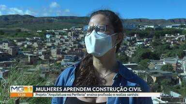 Projeto 'Arquitetura na Periferia' profissionaliza mulheres na construção civil - Conheça como funciona o projeto.