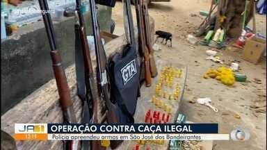 Polícia encontra arsenal de armas em São José dos Bandeirantes - Policiais suspeitam que as armas eram usadas para caça ilegal.