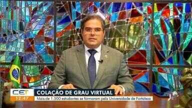 Mais de 1.500 estudantes se formam virtualmente na Universidade de Fortaleza - Saiba mais em: g1.com.br/ce