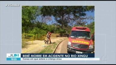 Bebê de 6 meses morre vítima de afogamento em Altamira, no PA - Vítima estava em uma canoa que virou no rio Xingu.
