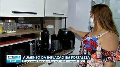 Energia elétrica puxa aumento de inflação na capital - Saiba mais em g1.com.br/ce