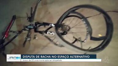 Ciclista de 22 anos morre atropelado durante disputa de racha em Porto Velho - Um dos motoristas foi preso e o outro fugiu do local em alta velocidade. Vítima estava acompanhada de um amigo na Av. Jorge Teixeira na noite de sexta-feira (24) quando foi atropelada.