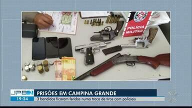 Troca de tiros termina com prisão de quatro suspeitos, em Campina Grande - Tiroteio aconteceu no Mutirão