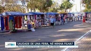 Clientes voltam a frequentar feiras especiais, em Goiânia - Elas ficaram suspensas durante quatro meses devido à pandemia da Covid-19.
