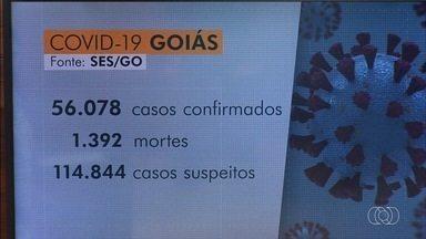 Acompanhe os números da Covid-19 em Goiás - Estado tem mais de 56 mil casos confirmados e 1,3 mil mortes.