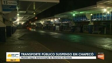 Chapecó tem transporte público suspenso a partir desta segunda - Chapecó tem transporte público suspenso a partir desta segunda