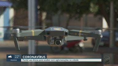 Prefeitura de Pontal, SP, usa drone para acabar com aglomerações - Cidade é uma das que mais têm casos de coronavírus na região.