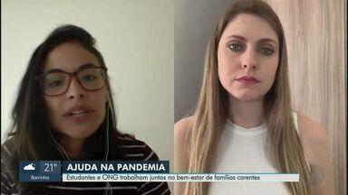 Estudantes e ONG trabalham juntos no bem-estar de famílias carentes - Em Ribeirão Preto, alunos de medicina que ainda não podem trabalhar nos hospitais deram um jeito de ajudar muita gente.