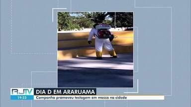 Oito pessoas testam positivo para Covid-19 durante ação de testagem em Araruama - Ação foi no bairro Ponte dos Leites.