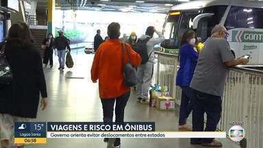 Terminal rodoviário da capital tem queda no número de passageiros - Governo orienta evitar deslocamentos entre estados.