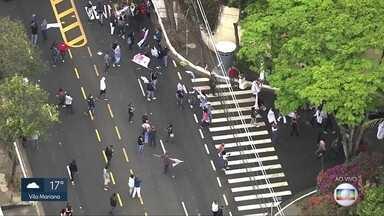 Protesto de professores e servidores públicos - Contra a terceirização da saúde e a volta às aulas
