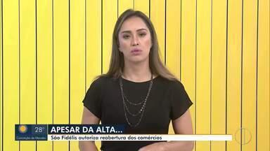Prefeitura de São Fidélis autoriza reabertura de comércio nesta quarta-feira - Número de casos da Covid-19 continua a subir na região.