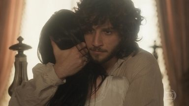Anna e Joaquim sofrem com a convocação para a audiência - Joaquim promete que não vai deixar Anna e Vitória voltarem a morar com Thomas