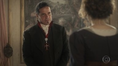 Bonifácio se entristece com a frieza de Leopoldina - A princesa dá desculpas para não se aproximar e nem ficar a sós com o ministro