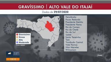 Alto Vale do Itajaí passa para nível gravíssimo - Alto Vale do Itajaí passa para nível gravíssimo