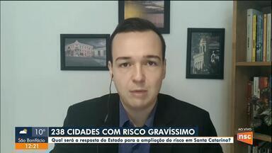 Ânderson Silva comenta a situação das cidades com risco gravíssimo em SC - Ânderson Silva comenta a situação das cidades com risco gravíssimo em SC