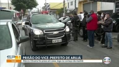 Preso Márcio Oliveira, vice-prefeito de Arujá - Ele foi preso em uma operação da Polícia Civil que investiga contratos superfaturados de saúde.