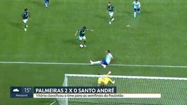 No fim, Palmeiras vence o Santo André e passa para a semi do Paulistão - No fim, Palmeiras vence o Santo André e passa para a semi do Paulistão