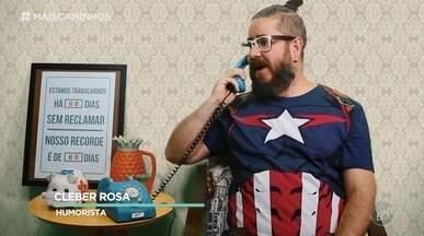 """Cleber Rosa nos diverte com a """"Reclamação do Dia"""" - Humorista de Pouso Alegre (MG) participa do Mais Caminhos com brincadeiras de situações do nosso cotidiano."""