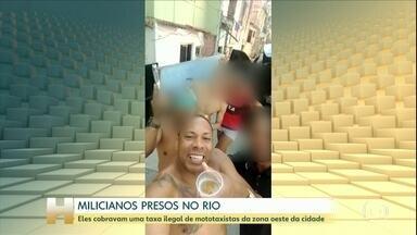 MPRJ prende 8 em operação contra milícia que atua na Zona Oeste do Rio - Ao todo, foram expedidos 6 mandados de prisão e 23 de busca e apreensão. Uma mulher foi presa em flagrante por porte ilegal de arma. Dois policiais apontados como chefes da organização criminosa estão entre os detidos nesta quinta-feira.