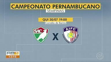 Salgueiro e Afogados entram em campo pela semifinal do Pernambucano - Equipes sertanejas se enfrentam nesta quinta-feira (30), às 19h, no estádio Cornélio de Barros.