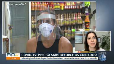 """Covid-19: Infectologista comenta """"novo normal"""" entre a população da Bahia - Ela também fala da importância de redobrar os cuidados nesta fase da pandemia."""