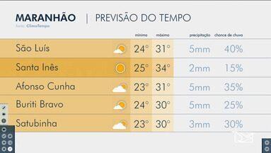 Veja a previsão do tempo no Maranhão - Confira como deve ficar o tempo e a temperatura.