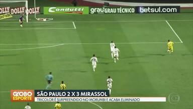 GE no DF1: São Paulo é eliminado do Paulistão pelo Mirassol - Esporte tambpem fala sobre classificação do Palmeiras, Campeonatos Mineiro e Gaúcho, Fórmula 1 e NBA.