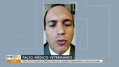 Em Janaúba, dono de clínica é investigado por atuar como falso veterinário - De acordo com a Polícia Civil, o falso médico é suspeito de realizar procedimentos cirúrgicos que resultaram em complicações de saúde, mutilações e até a morte dos animais.