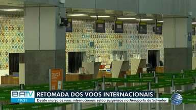 Aeroporto de Salvador começa a retomada de vôos internacionais com viagens para o Chile - Os vôos internacionais estão suspensos desde março, devido a pandemia do novo coronavírus.