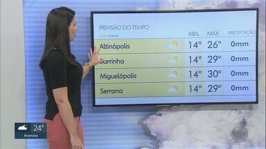 Veja a previsão do tempo para esta sexta-feira (31) na região de Ribeirão Preto - Julho vai chegando ao fim e agosto também vai ser quente, com temperatura acima da média.