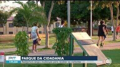 Reabertura do Parque da Cidadania exige mudanças para receber visitantes - Reabertura do Parque da Cidadania exige mudanças