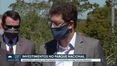 Parque Nacional de Brasília será concedido à iniciativa privada - O Ministro do Meio Ambiente, Ricardo Salles, fez uma vistoria no parque e anunciou investimentos de R$ 2,6 milhões na área.