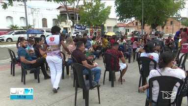 Professores da rede municipal de Pindaré-Mirim voltam a protestar no centro da cidade - Essa foi a segunda manifestação da categoria em uma semana.