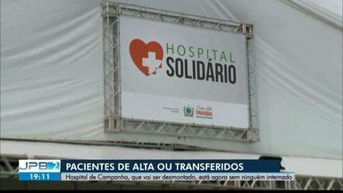 Pacientes recebem alta e são transferidos antes de desativação do Hospital de Campanha - Equipamentos da unidade serão destinados para hospitais localizados, principalmente, no interior do estado.