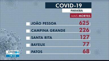 Paraíba passa de 81 mil casos confirmados e tem 1.785 mortes por coronavírus - São 1.210 casos e 19 mortes confirmadas nesta quinta-feira (30).