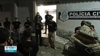 Polícia prende oito pessoas em Conceição da Barra e Pedro Canário, no norte do ES - Confira na reportagem.