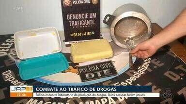 Polícia descobre laboratório de produção de drogas em Macapá; dois foram presos - Polícia descobre laboratório de produção de drogas em Macapá; dois foram presos