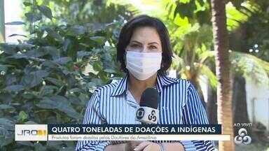Quatro toneladas de doações a indígenas - Produtos foram doados pelos Doutores da Amazônia.