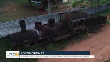Locomotiva 12 - Cemitério da Candelária e Bairro Triângulo são os pontos históricos da caminhada de hoje.