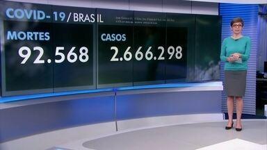 Brasil registra 1.191 mortes por Covid-19 nesta sexta-feira (31) - Só no mês de julho, o novo coronavírus matou 32.912 pessoas no Brasil, mais do que o total de mortos por Covid-19 da França, o sétimo país com mais vítimas no mundo.