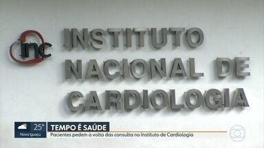 Pacientes pedem a volta das consultas no Instituto de Cardiologia - As consultas foram suspensas por causa da pandemia, mas os cardíacos dizem que não podem esperar mais, já que o quadro de saúde piora a cada dia.