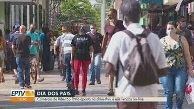 Comércio de Ribeirão Preto (SP) aposta em drive thru para Dia dos Pais - Shopping e varejo usam alternativas para vendas por causa da pandemia.