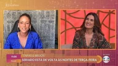 Fernanda de Freitas relembra 'Tapas & Beijos' e fala da saudade de Flávio Migliaccio - Ator morreu em maio deste ano. Humorístico volta a ser exibido na Globo nas noites de terça